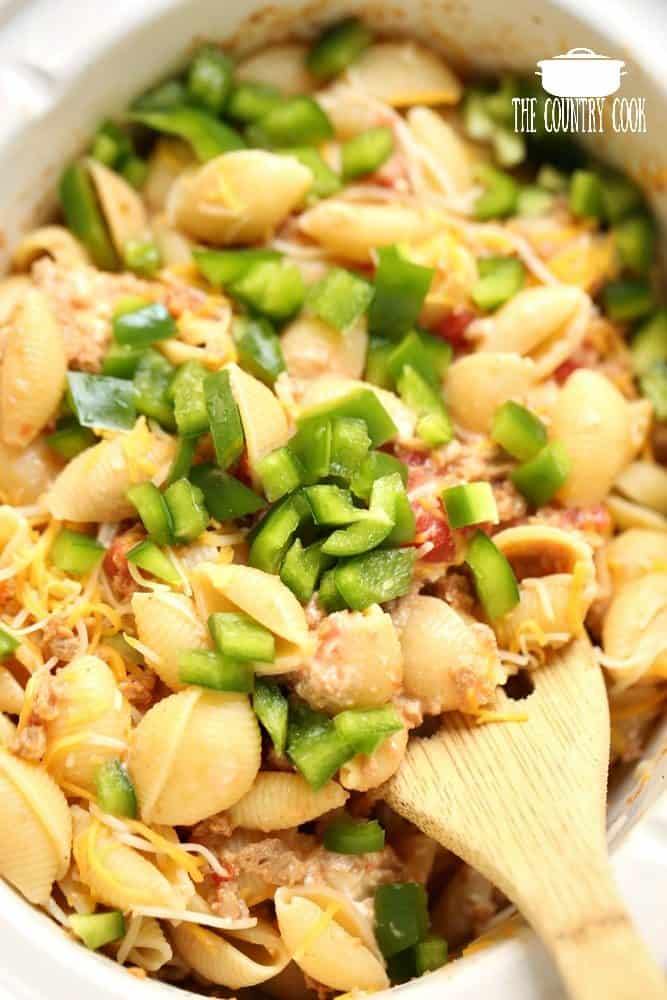 Crock Pot Taco Pasta recipe