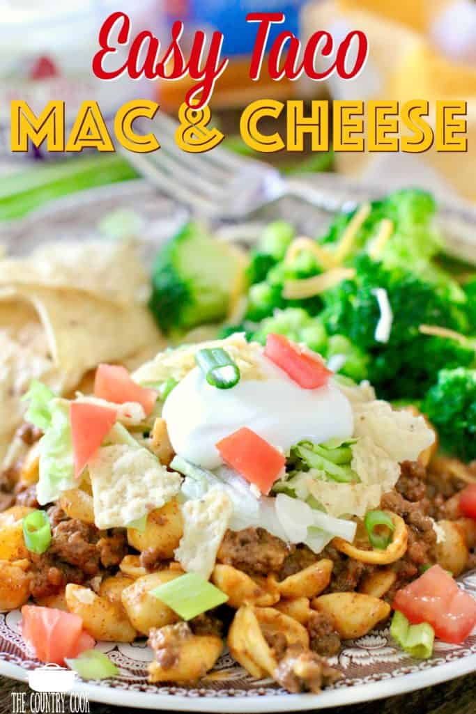 Easy Taco Macaroni and Cheese recipe from The Country Cook