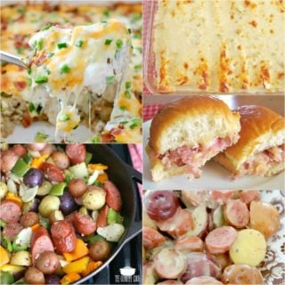 Creamy Potato Sausage Bake at Meal Plan Sunday #55
