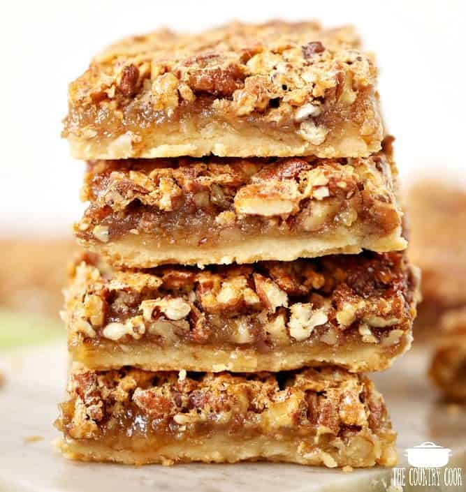 Easy Southern Pecan Pie Bars with Shortbread Crust - The ...
