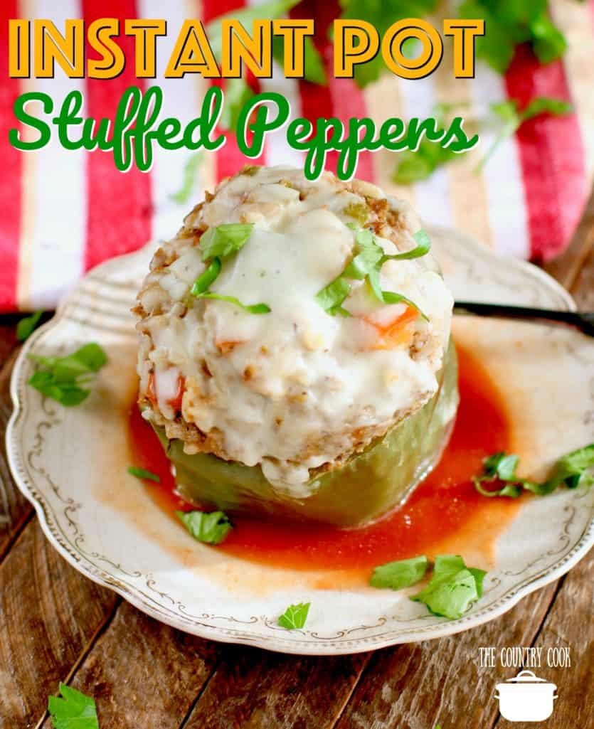 Instant Pot Stuffed Peppers recipe from The Country Cook