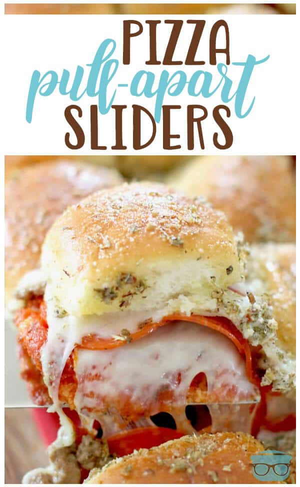 Pizza Pull Apart Sliders recipe from The Country Cook