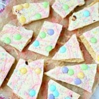 No-Bake Spring and Easter Candy Bark recipe