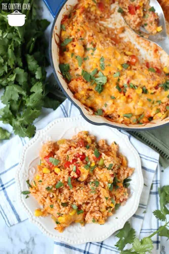 One Enchilada Rice recipe with bell peppers and corn