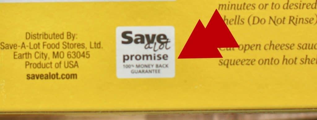 Save-A-Lot promise guarantee