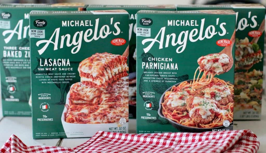 Michael Angelo's Frozen Family Meals: Chicken Parmigiana, Meat Lasagna