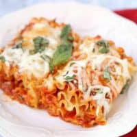 Easy Vegetarian Lasagna Rolls