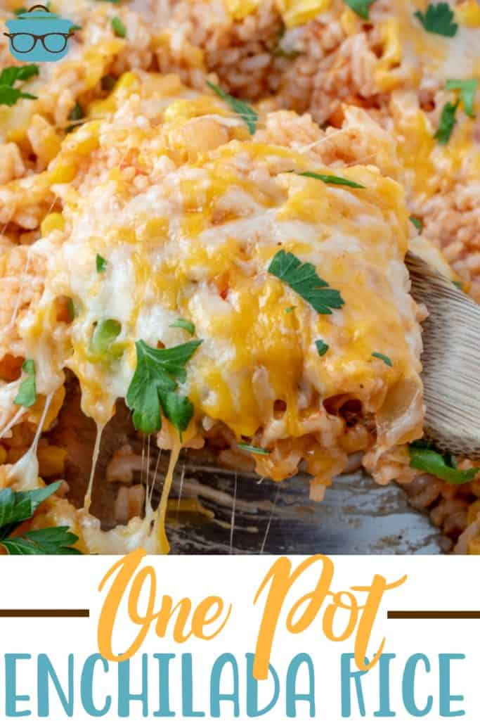 Easy One Pot Enchilada Rice recipe from The Country Cook