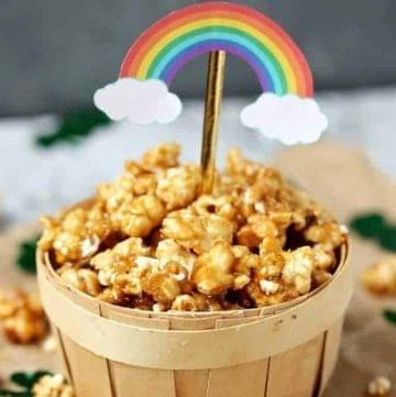 St. Patrick's Day Pot of Gold Caramel Popcorn