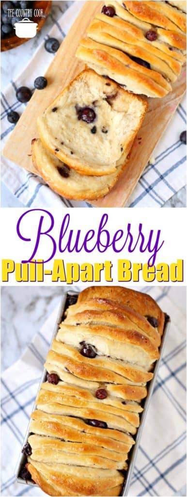 Blueberry Pull Apart Bread The Country Cook
