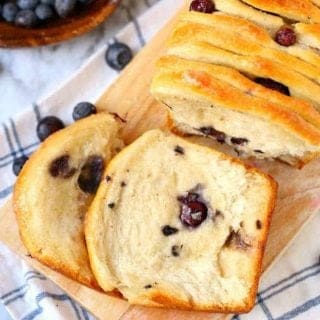 Blueberry Pull Apart Bread recipe