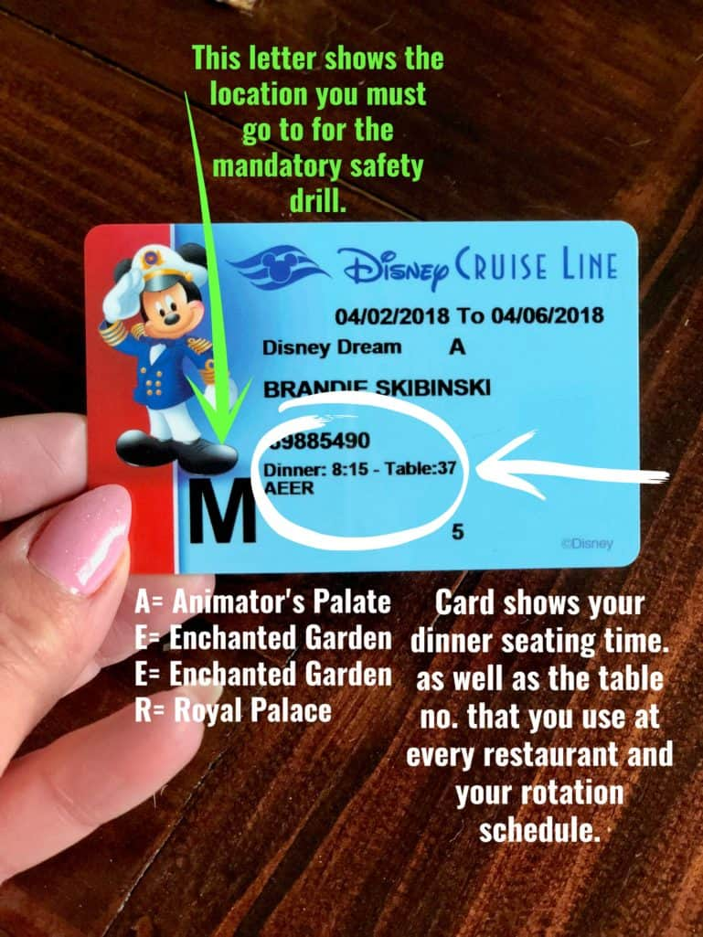 Disney Cruise Line Key to the World Card