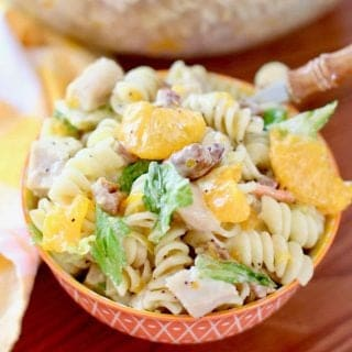 Orange Chicken Pasta Salad with Poppyseed Dressing