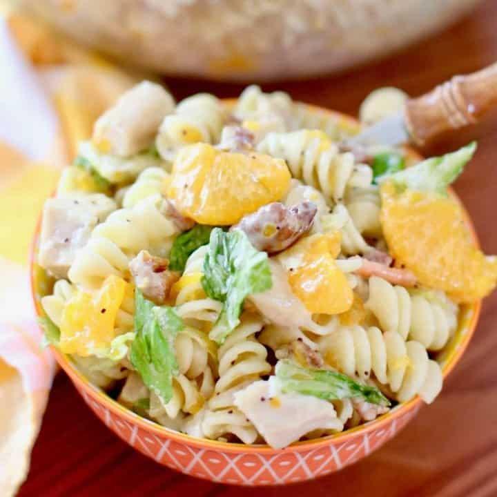 Orange Chicken Pasta Salad with Poppyseed Dressing