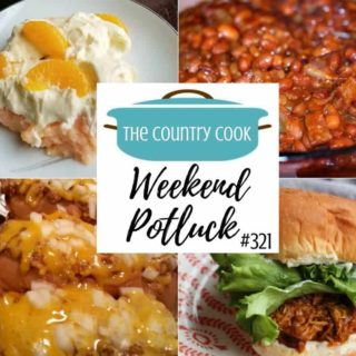 Featured recipes at Weekend Potluck include: Best Ever Baked Beans, Oven Baked Chili Dogs, Orange Creamsicle Jell-O Dessert, Crock Pot French Onion Sandwiches and Strawberry Shortcakes