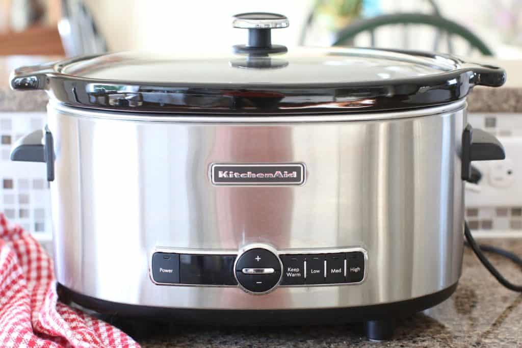 covered KitchenAid 5-quart slow cooker