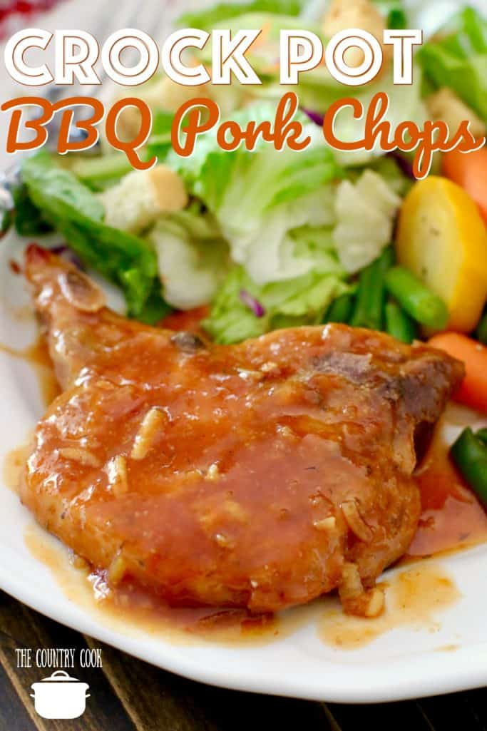 Crock Pot BBQ Pork Chops recipe from The Country Cook