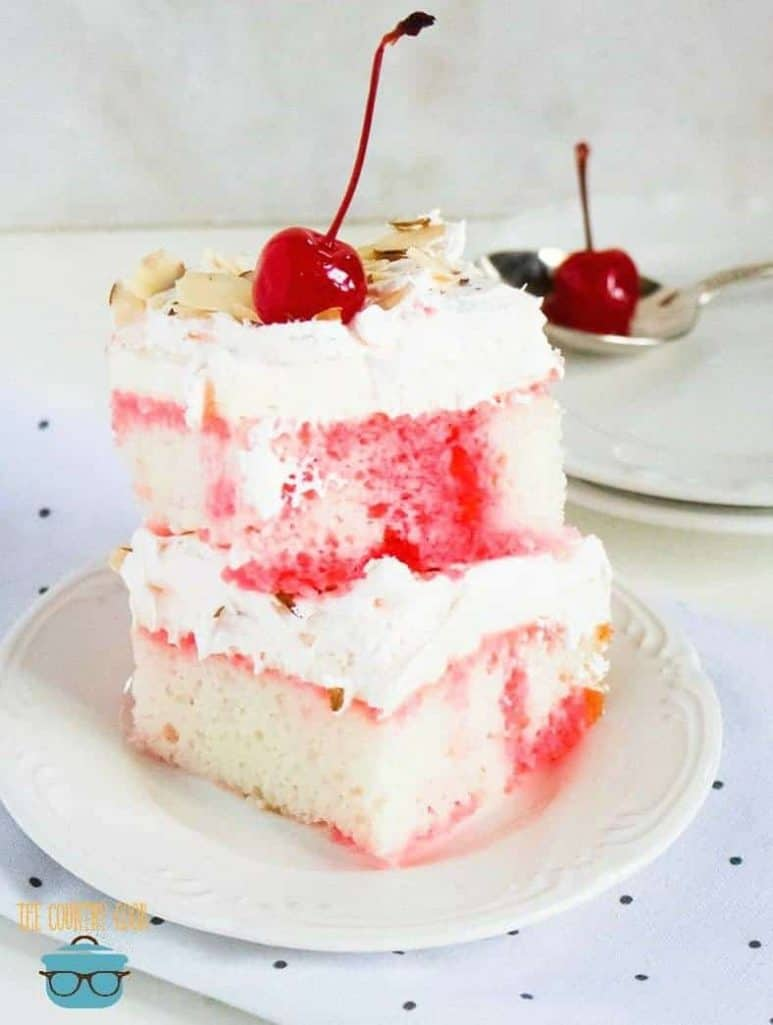 Easy Cherry Almond Poke cake recipe