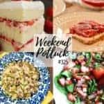 Strawberry Pretzel Salad ~ Weekend Potluck #325