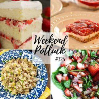 Strawberry Pretzel Salad at Weekend Potluck #325