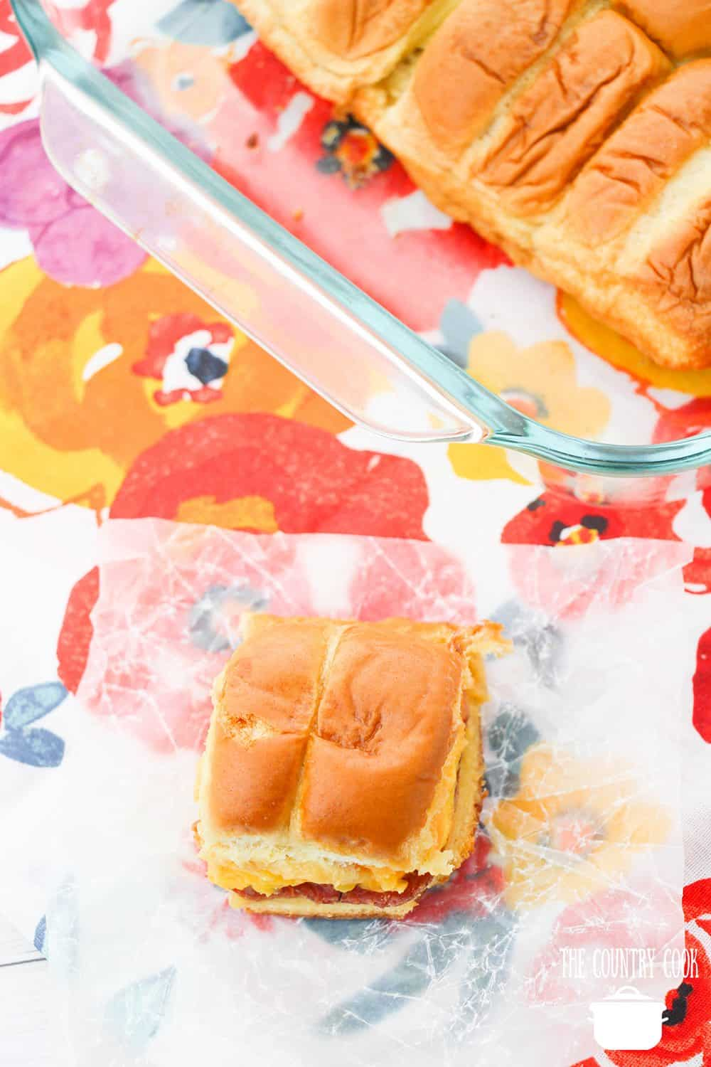 These breakfast sliders are a new breakfast favorite in our house! So savory, delicious, and easy to make. I guarantee you'll love these breakfast sliders and have your family begging you to make more!