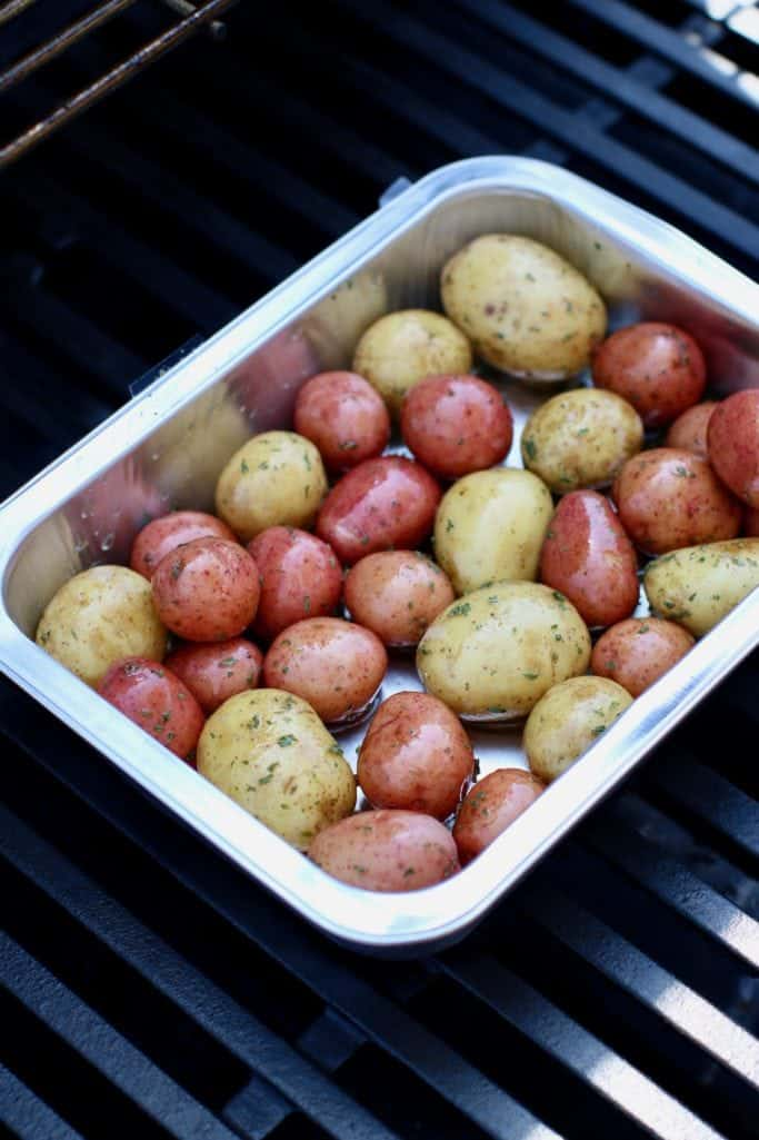 garlic and herb seasoned baby potatoes