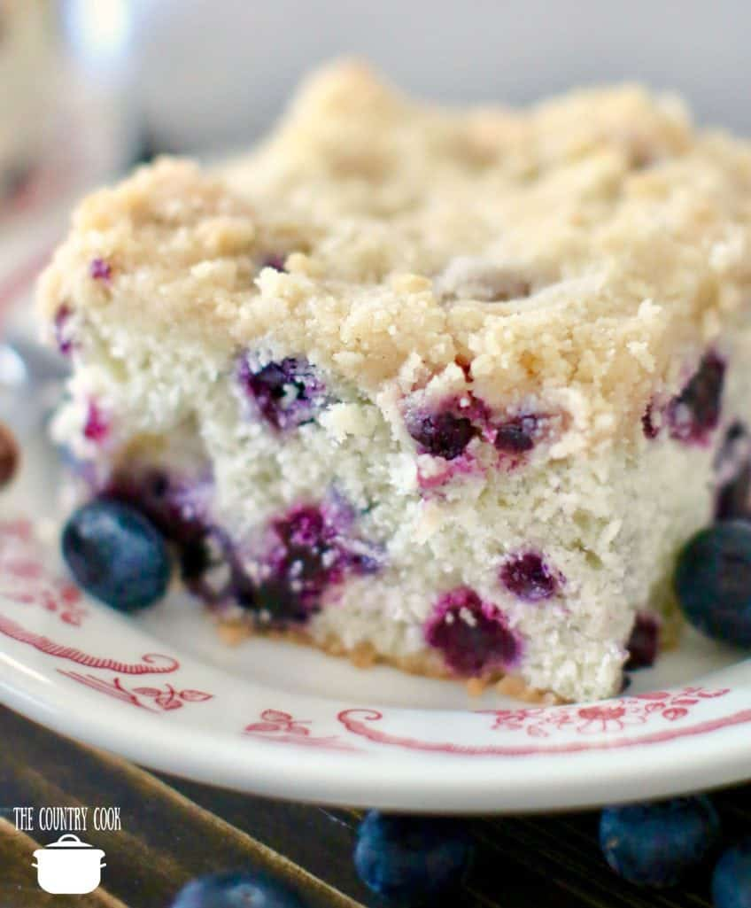 Blueberry Buckle Coffe Cake from The Country Cook