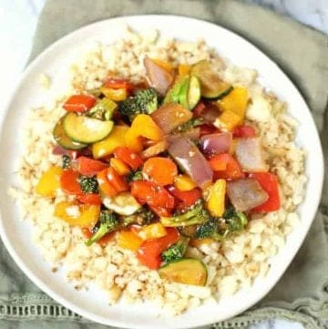 Low Carb Cauliflower Rice Vegetarian Stir Fry
