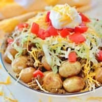 Grilled Taco-Tatoes (Taco Potatoes) recipe