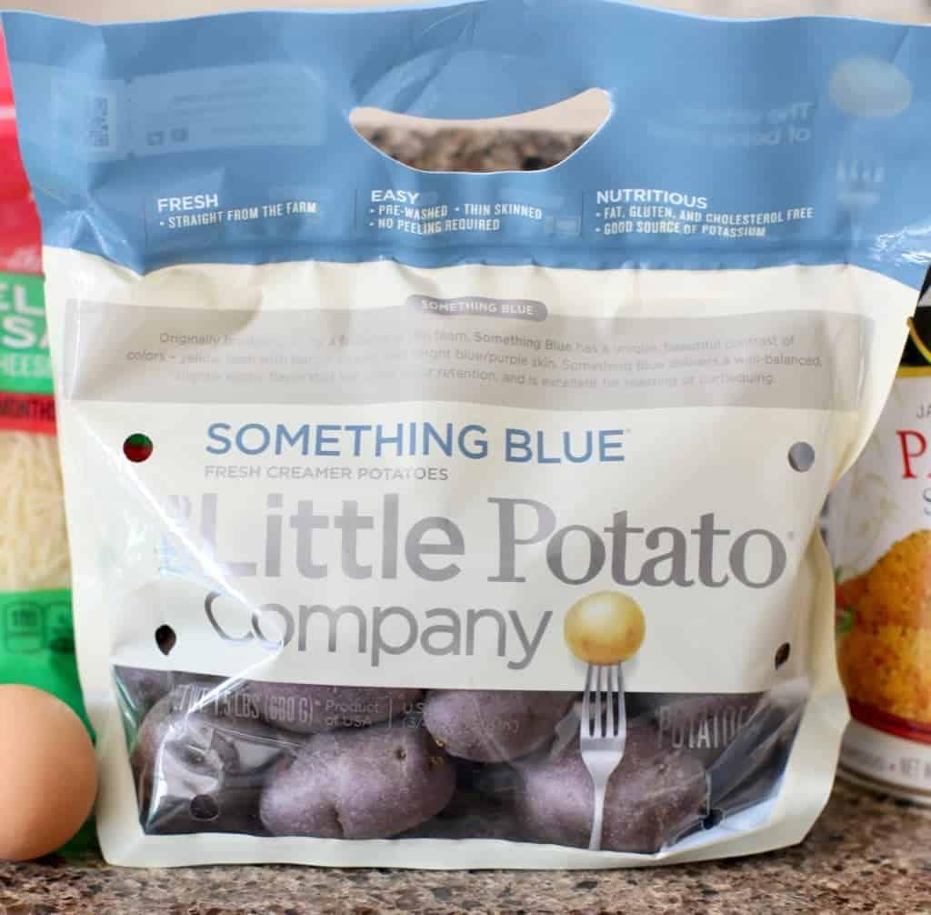 Something Blue Creamer Potatoes