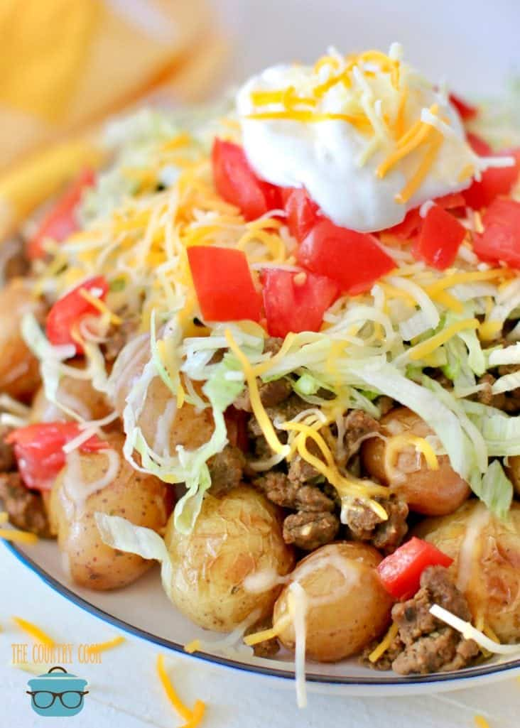 Easy Grilled Taco Potatoes - perfect for camping