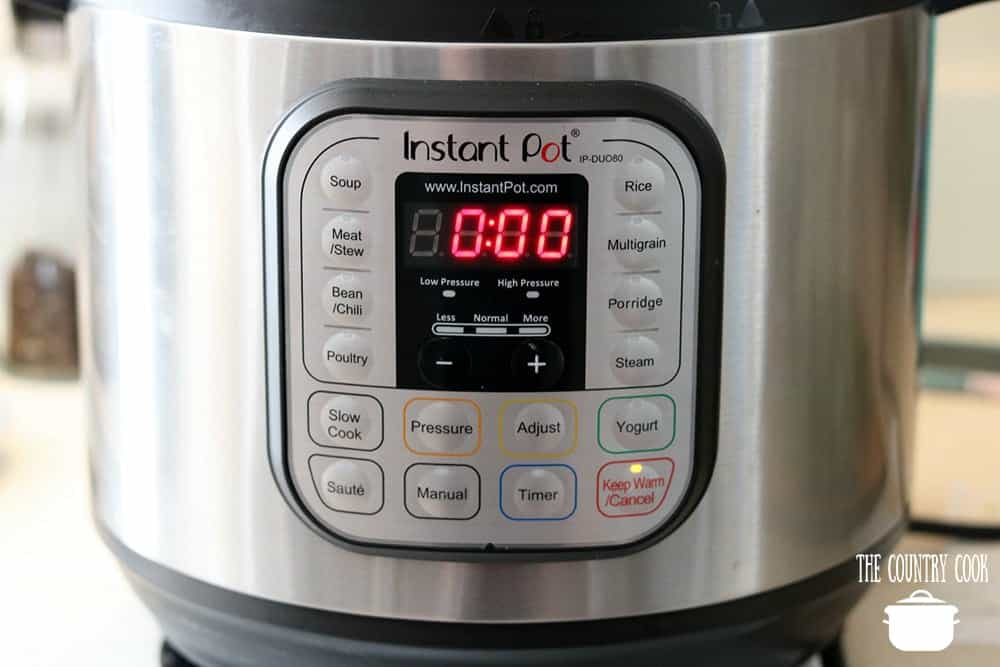 Instant Pot electric pressure cooker on keep warm setting