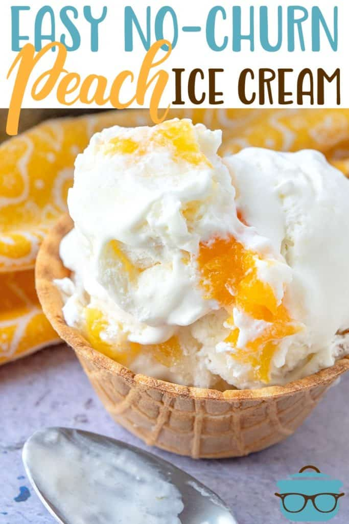 Easy No-Churn Peach Ice Cream recipe from The Country Cook