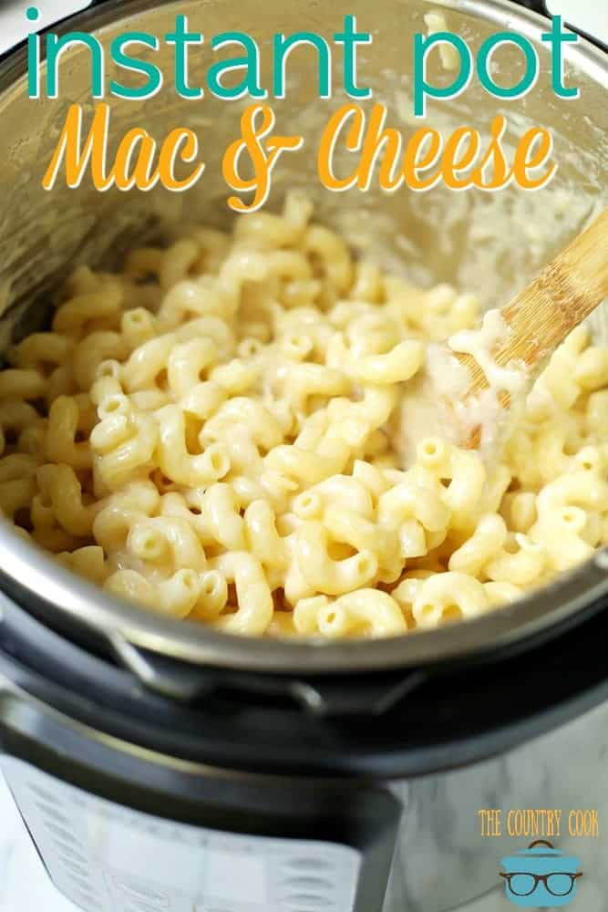 Easy Instant Pot White Cheddar Macaroni and Cheese recipe from The Country Cook