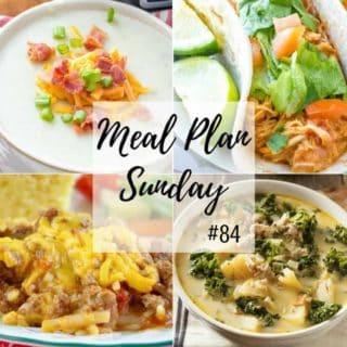 Crockpot Potato Soup - Meal Plan Sunday #84
