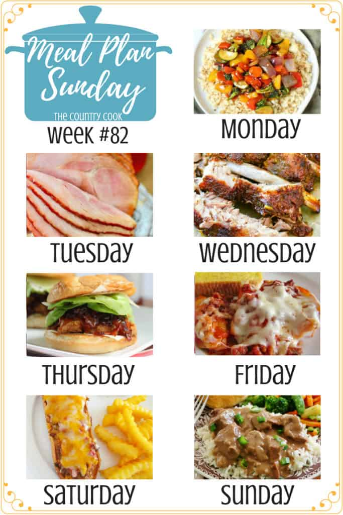 Meal Plan Sunday recipes include: Low Carb Cauliflower Rice Stir Fry, Crock Pot Sweet Tea Glazed Ham, The Best Pork Ribs, Jammin Honey Barbecue Chicken Sandwich, Stuffed Shells, Meatloaf Melts, My Favorite Beef Tips Recipe #mealplan #recipe #recipes #ideas #easy #backtoschool #kidfriendly #meatless #beeftips #groundbeef #chicken #pasta #slowcooker #crockpot