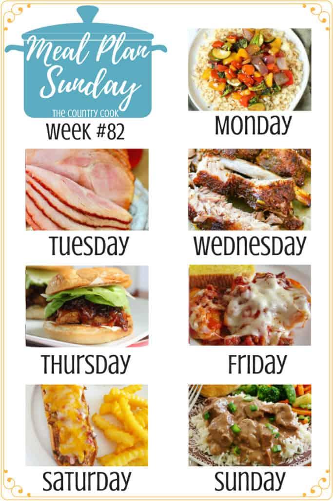 Meal Plan Sunday recipes include: Low Carb Cauliflower Rice Stir Fry, Crock Pot Sweet Tea Glazed Ham, The Best Pork Ribs, Jammin Honey Barbecue Chicken Sandwich, Stuffed Shells, Meatloaf Melts, My Favorite Beef Tips Recipe #mealplan #recipe #recipes #ideas #easy #backtoschool #kidfriendly #meatless #beeftips #groundbeef #chicken #pasta #slowcooker #crockpot