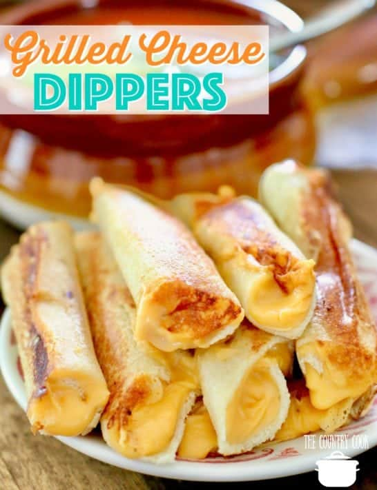Grilled Cheese Dippers by The Country Cook