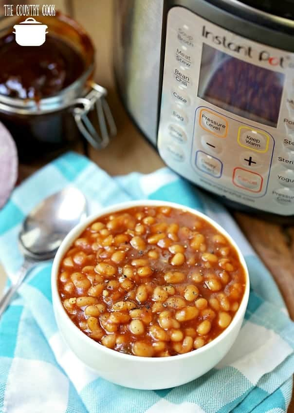 Homemade Instant Pot Baked Beans, no soaking