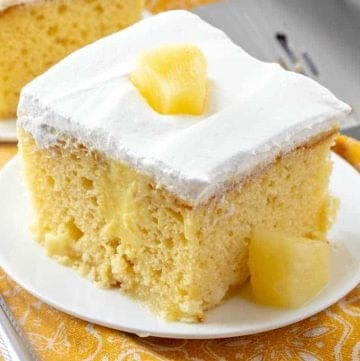 Pineapple Pudding Poke Cake