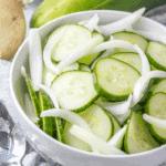 Mom's Vinegar Cucumber Salad