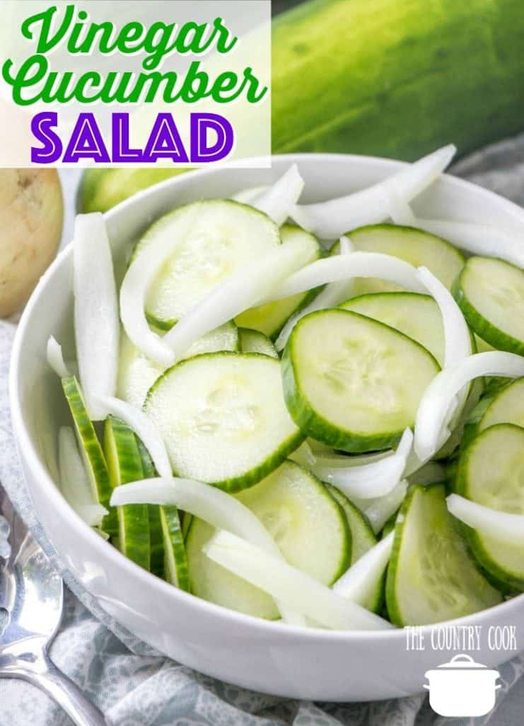 Mom's Vinegar and Onion Cucumber Salad recipe