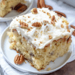 Homemade Italian Cream Cake with Butter Cream Cheese Frosting recipe