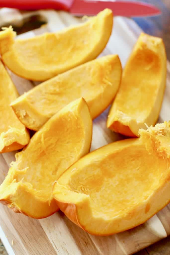 wedge slices of sugar pumpkin (baking pumpkin)