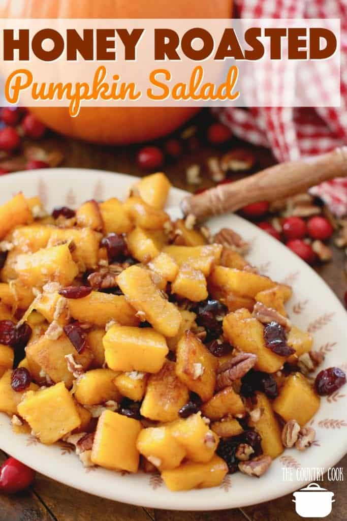 Honey Roasted Pumpkin Salad recipe from The Country Cook
