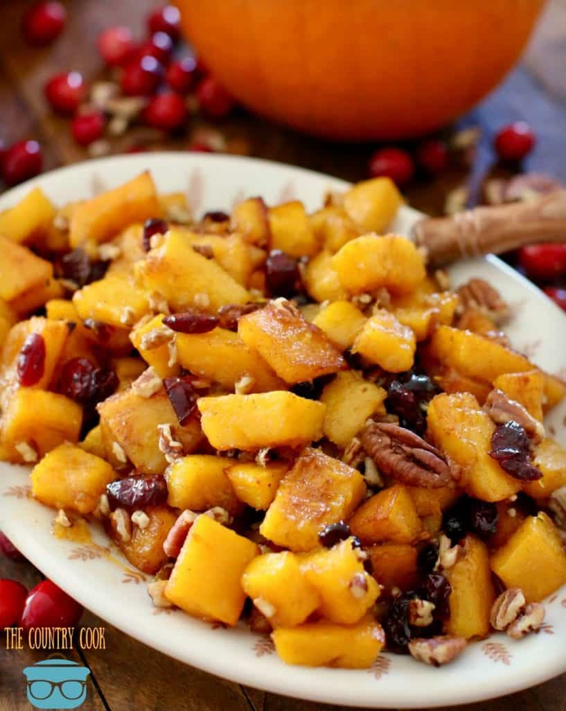 roasted pumpkin, cinnamon, perfect for Thanksgiving or Christmas side dish