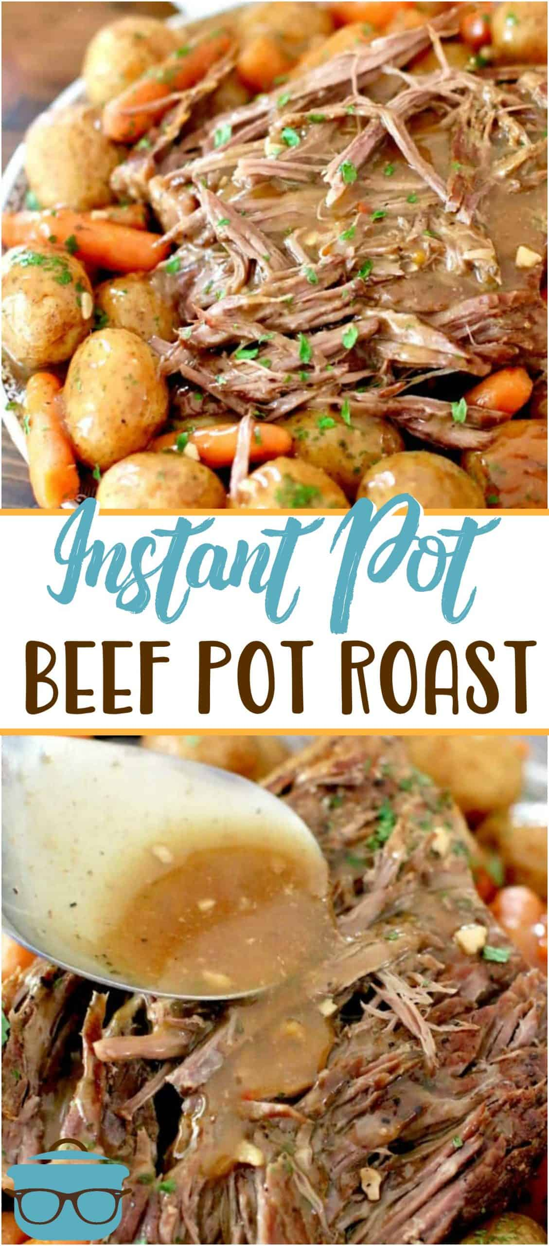 The Best Instant Pot Roast with carrots and potatoes that makes its own flavorful gravy. It's an entire meal made in the pressure cooker.