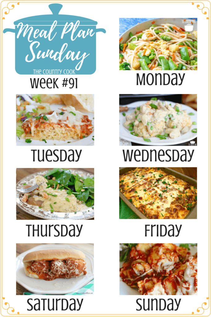 Meal Plan recipes include: No-Fuss Stir Fry, Friendship Spaghetti Pie, Crock Pot Chicken Pot Pie, Crock Pot Creamy Chicken & Little Potatoes, South Your Mouth Lasagna, Crock Pot Meatball Subs, Crock Pot Ravioli #maindishes #mealplan #recipes #easy #ideas #groundbeef #chicken #crockpot #slowcooker