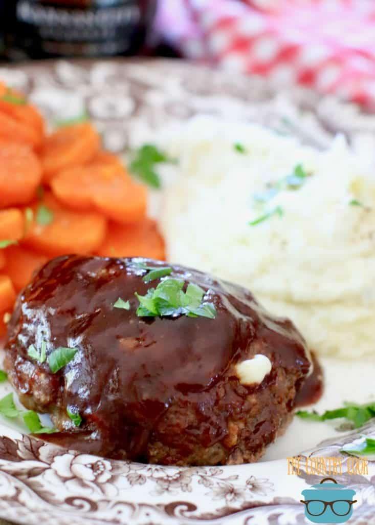 Mozarella Stuffed BBQ Meatloaf
