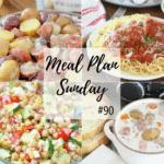 Slow Cooker Potato Ham Soup ~ Meal Plan Sunday #90